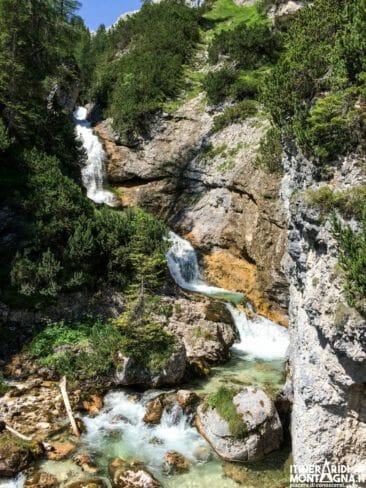 Inizio sentiero dei Canyon Cascate di Sopra