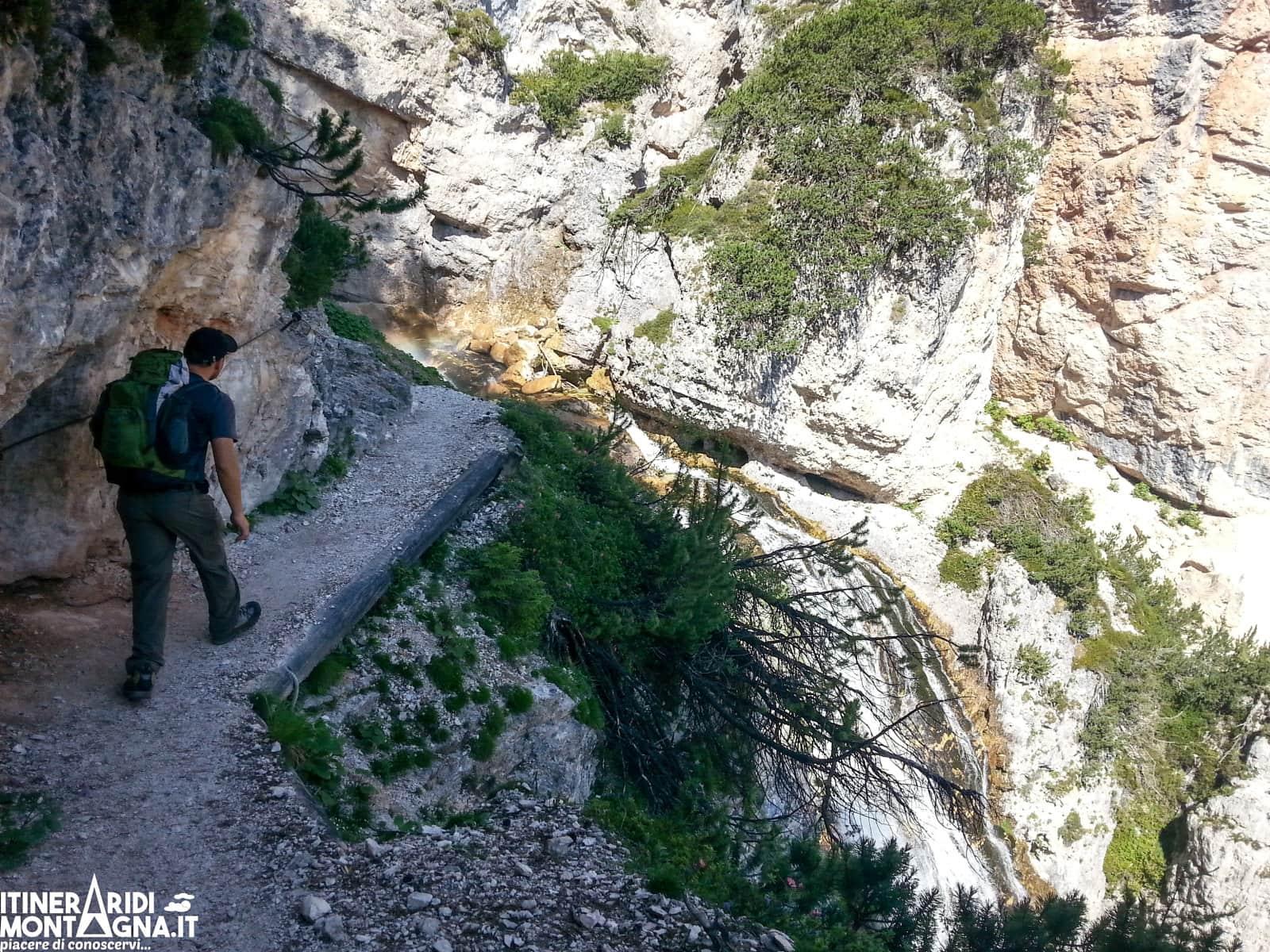 tratto attrezzato Cascata Belvedere