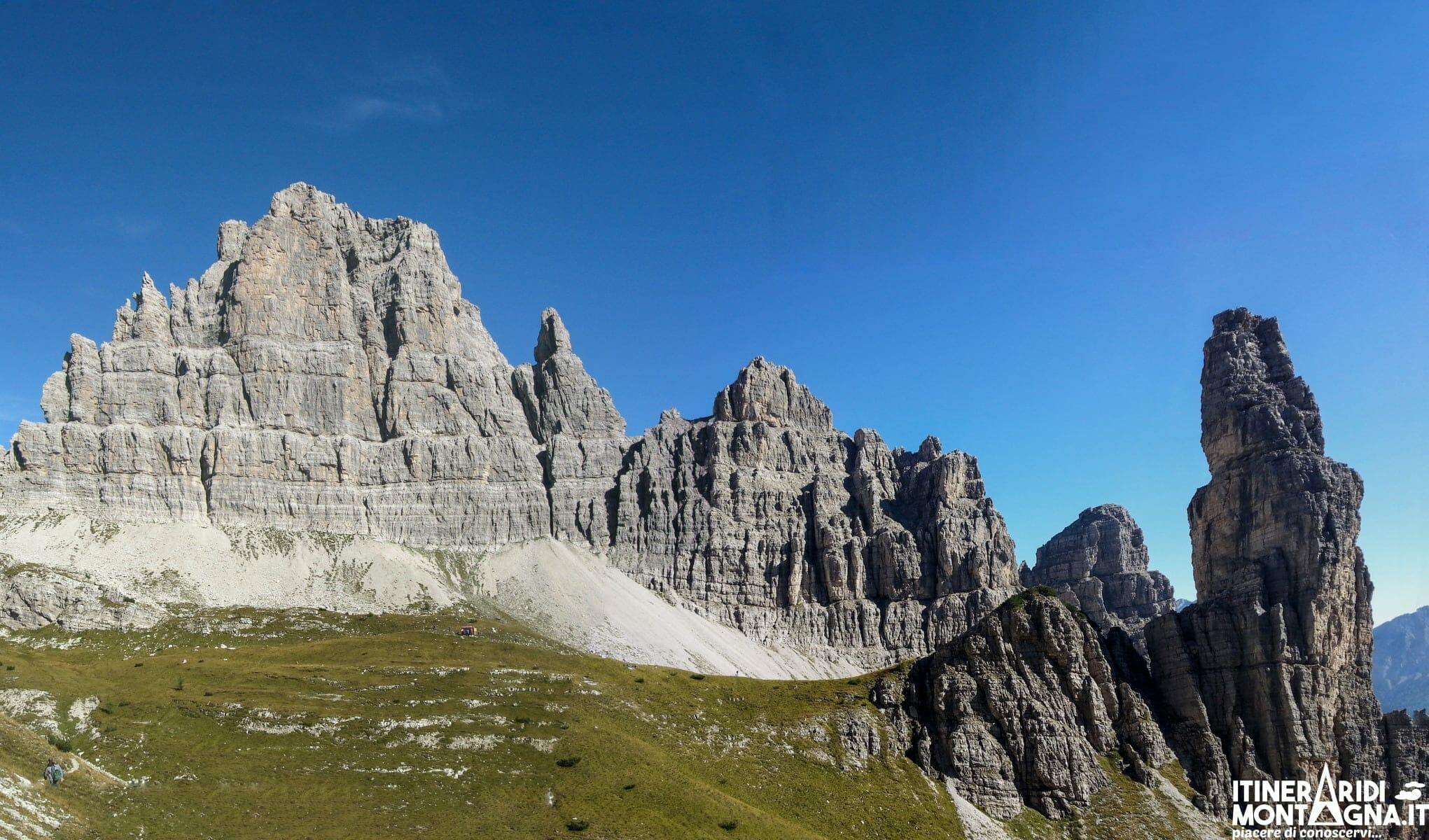 Croda Cimoliana Campanile di Val Montanaia