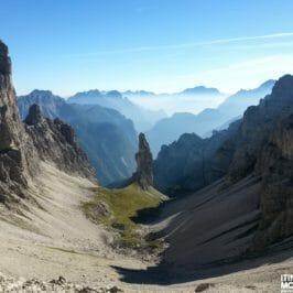 Forcella Segnata e Val Montanaia dal Rifugio Padova