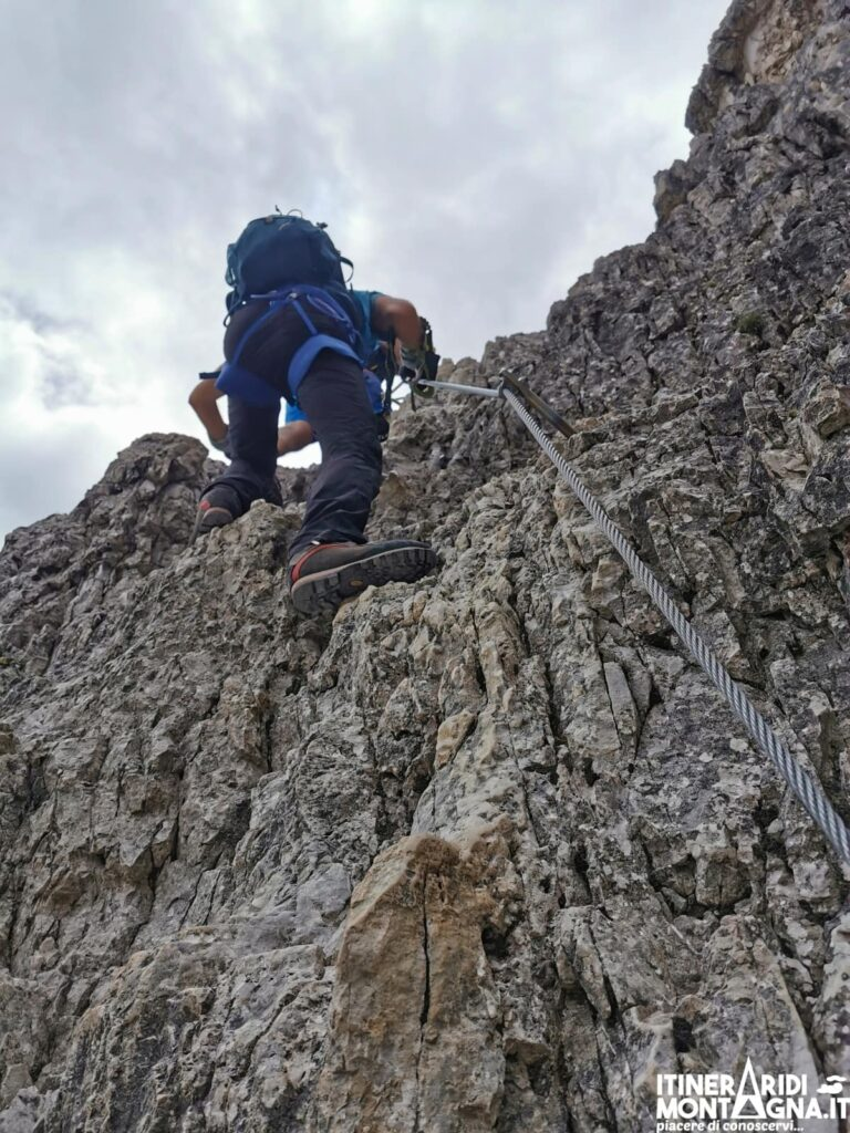 tratto ferrata cima Monte Paterno