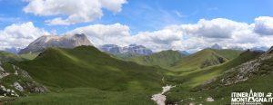 panorama salita Camerloi Lago Rifugio Antermoia
