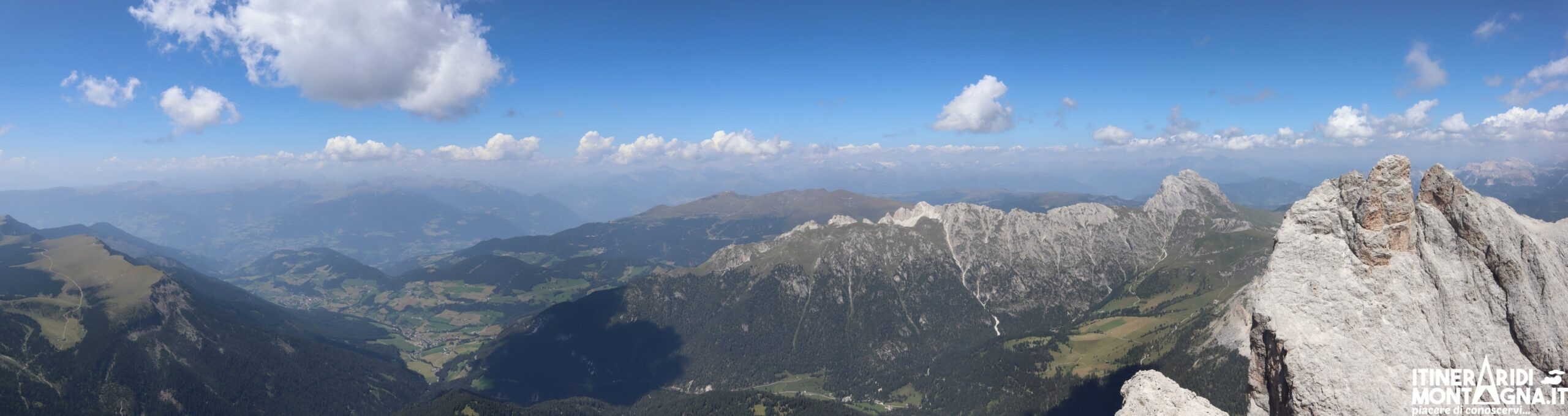 panorama cima Sass Rigais